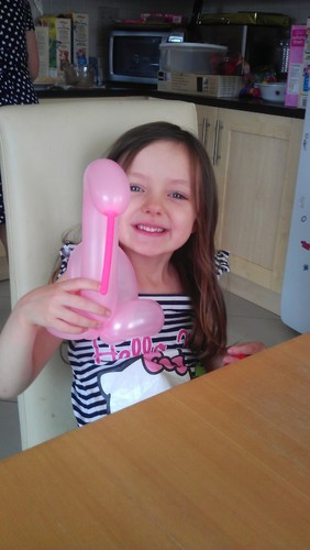 Balloon swan, and Sophie