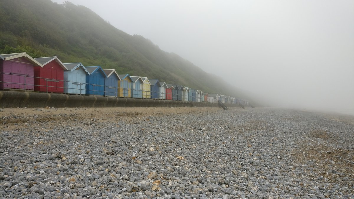 More Cromer beach huts and mist