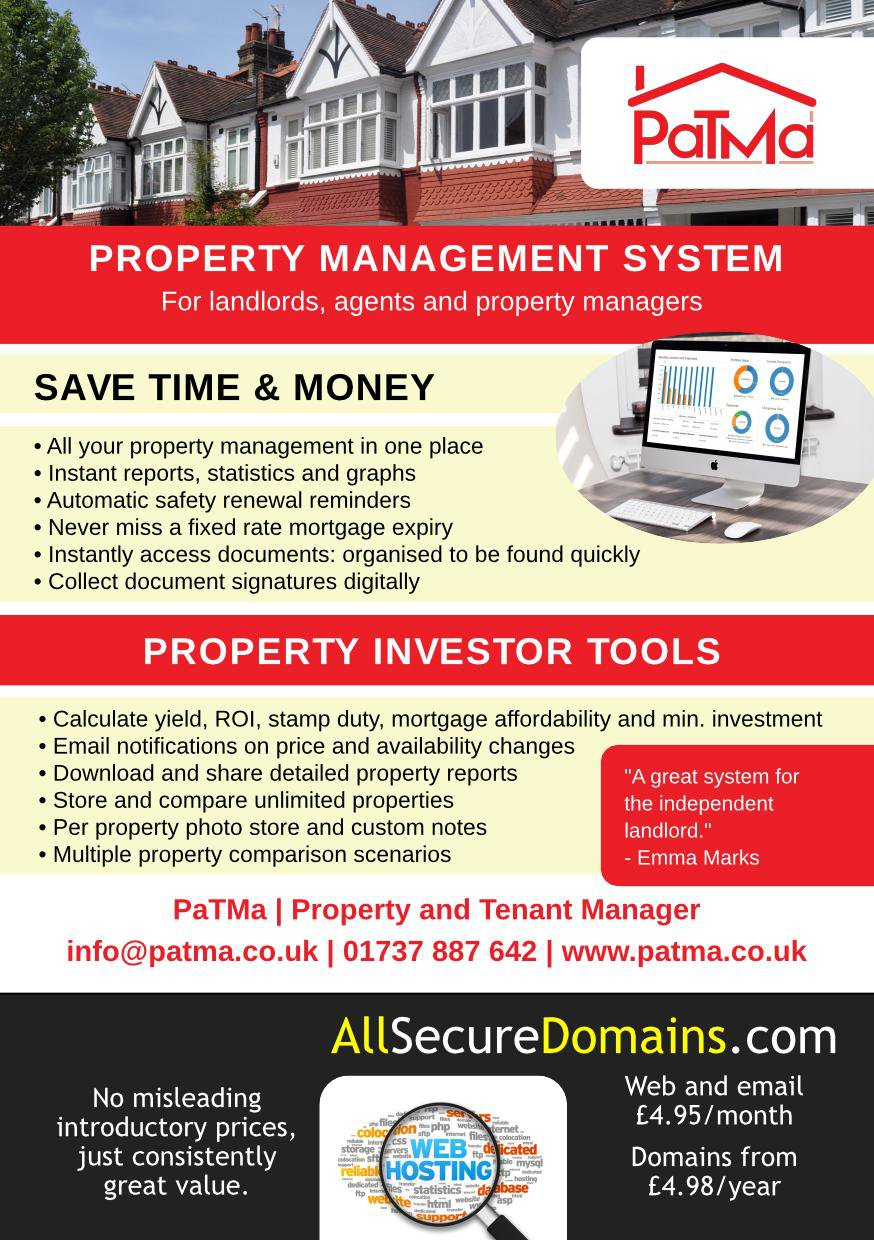 PaTMa and All Secure Domains print advert