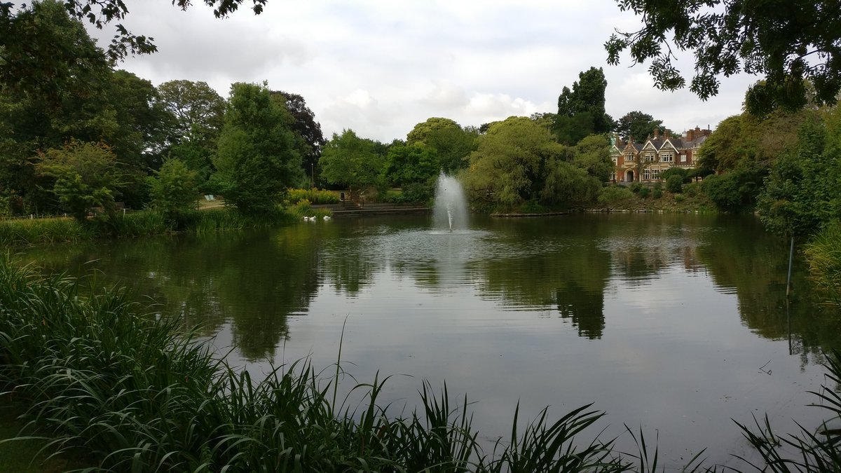 Bletchley Park lake and mansion
