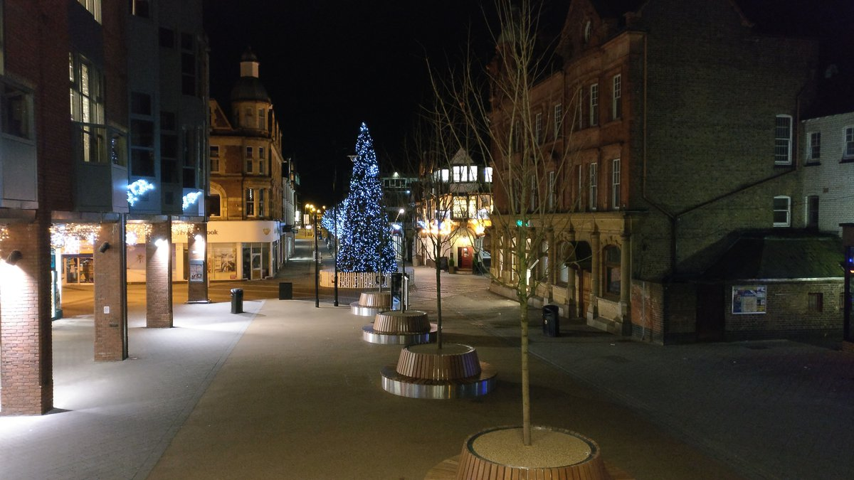 Redhill town with Christmas tree