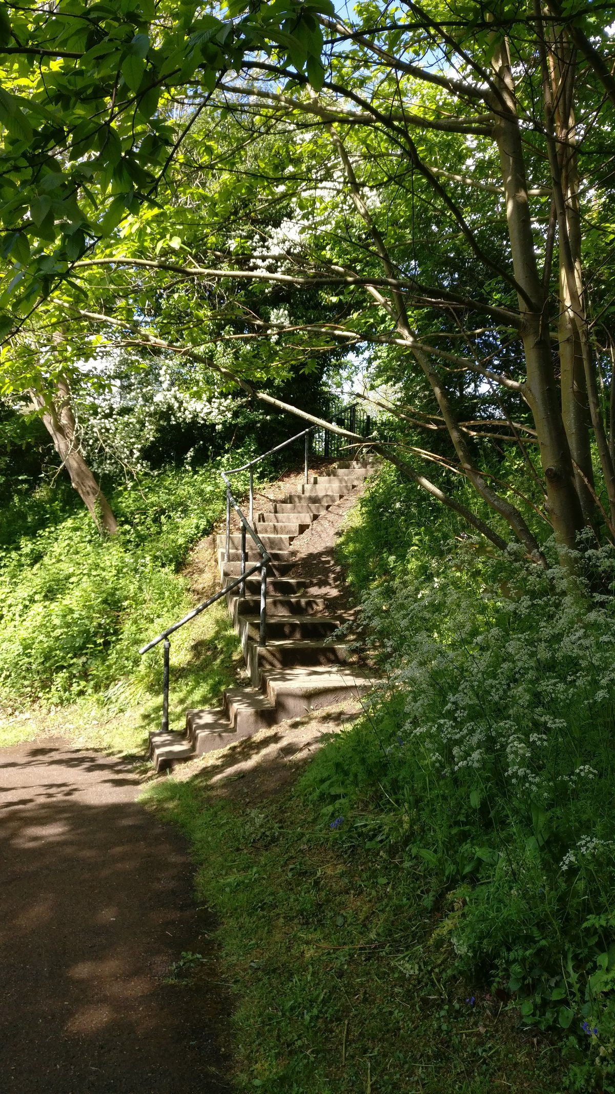 Stairs near Reigate Castle